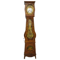 19th Century French Empire Comtoise or Grandfather Clock with Scenes of Farm