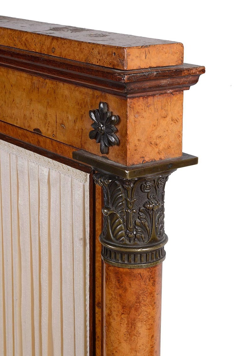 19th Century French Empire Fire Screen In Excellent Condition For Sale In Brighton, Sussex