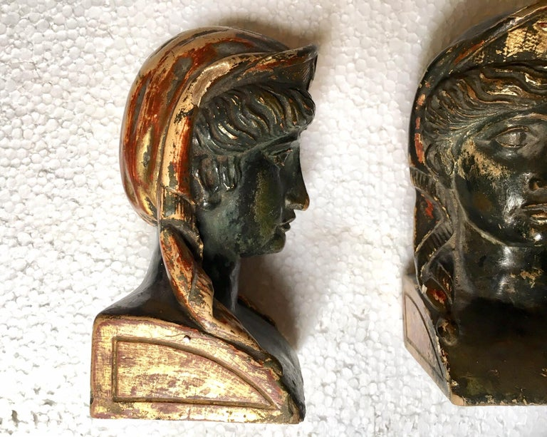 19th Century French Empire Gitwood Heads Sphinxes For Sale 4