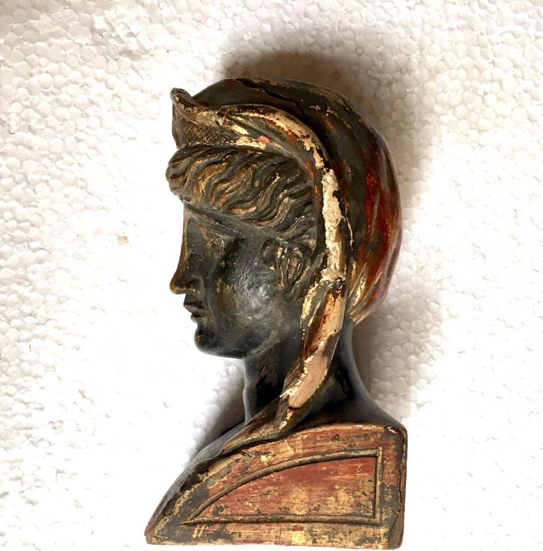 19th Century French Empire Gitwood Heads Sphinxes For Sale 5