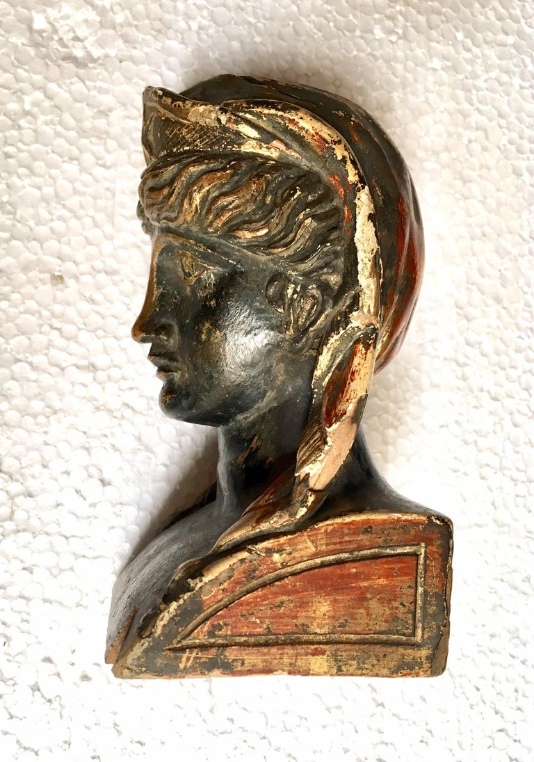 19th Century French Empire Gitwood Heads Sphinxes For Sale 6