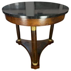 19th Century French Empire Gueridon Black Marble top and Bronze Dore Mounts