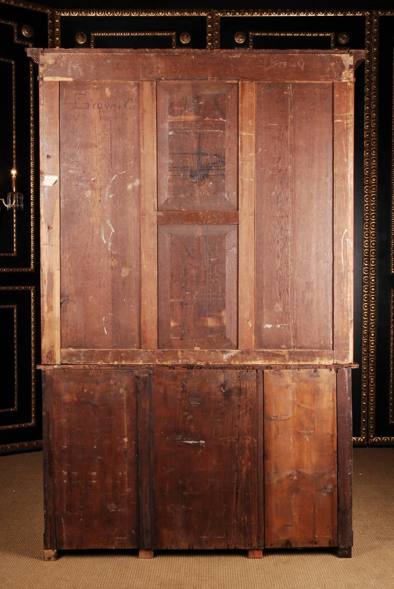 19th Century French Empire Library Cabinet, Cuba Mahogany For Sale 6
