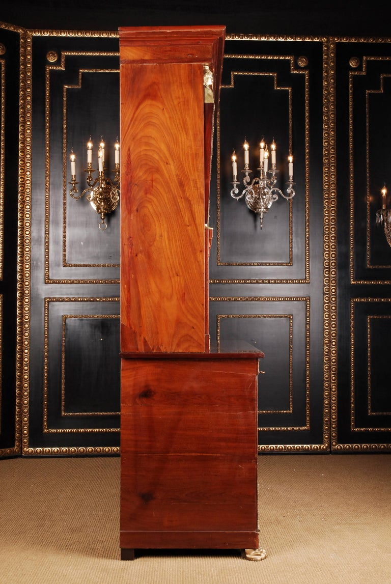 19th Century French Empire Library Cabinet, Cuba Mahogany For Sale 5