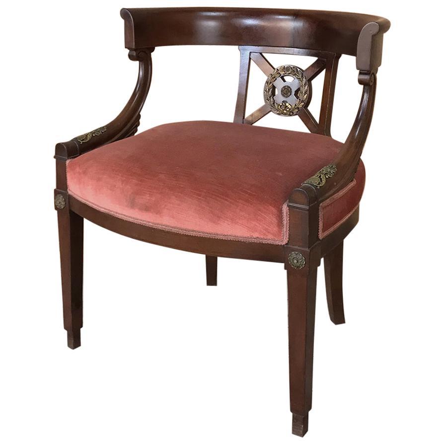 19th Century French Empire Mahogany Armchair