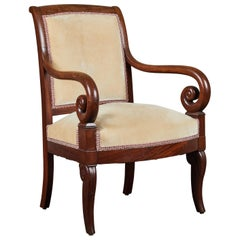 19th Century French Empire Mahogany Armchair