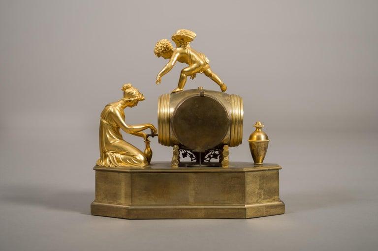 Bronze Early 19th Century French Empire Ormolu Mantel Clock