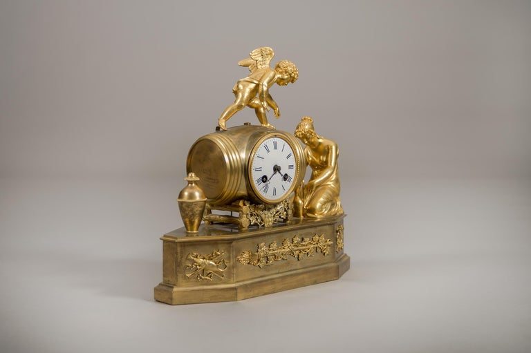 Early 19th Century French Empire Ormolu Mantel Clock