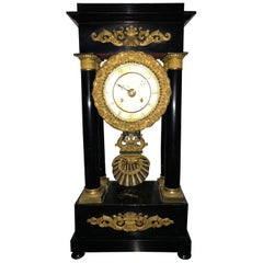 19th Century French Empire Pendulum O'Clock