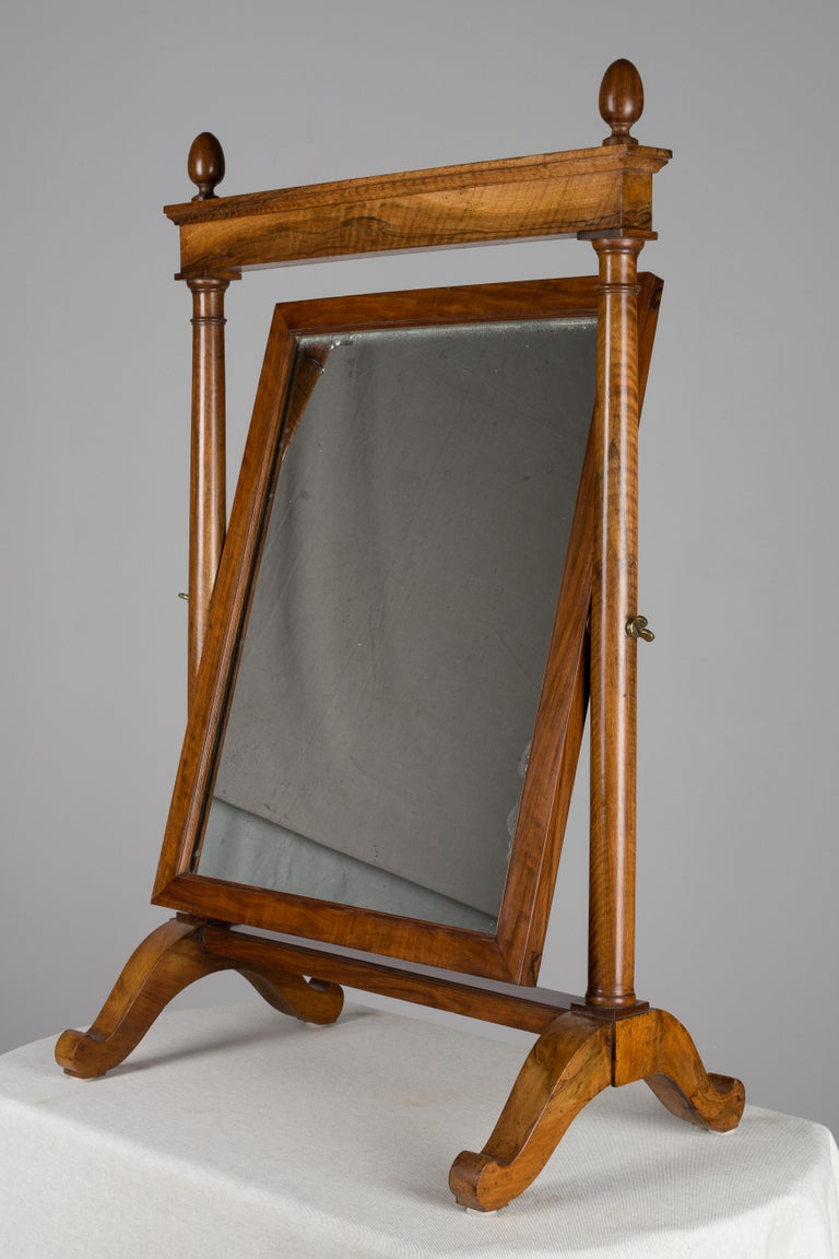19th Century French Empire Period Cheval Mirror In Good Condition For Sale In Winter Park, FL