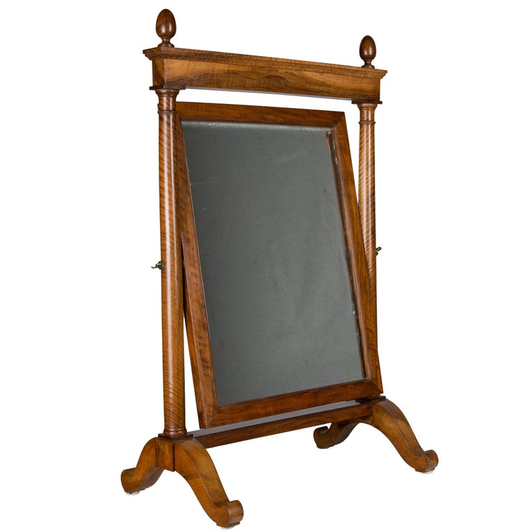 19th Century French Empire Period Cheval Mirror For Sale