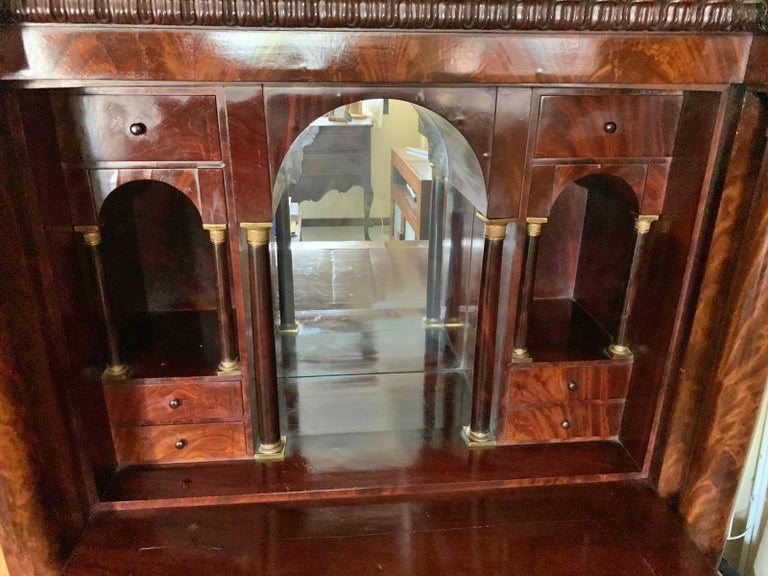 Carved 19th Century French Empire Secretaire