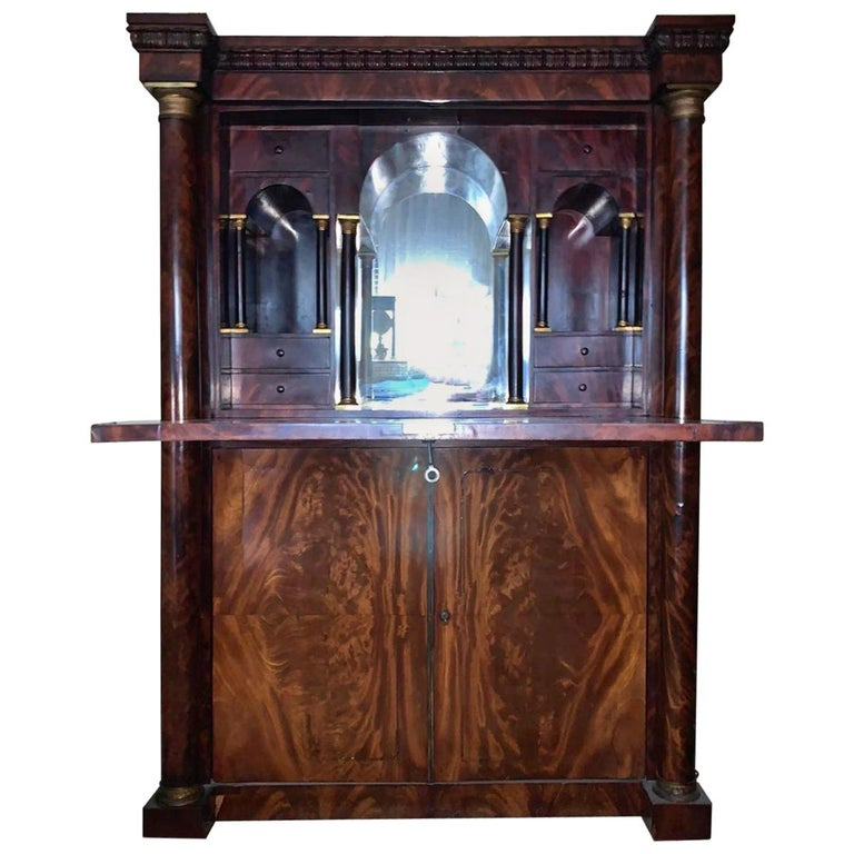 """19th Century French Empire Secretaire """"a Abattant""""  For Sale"""