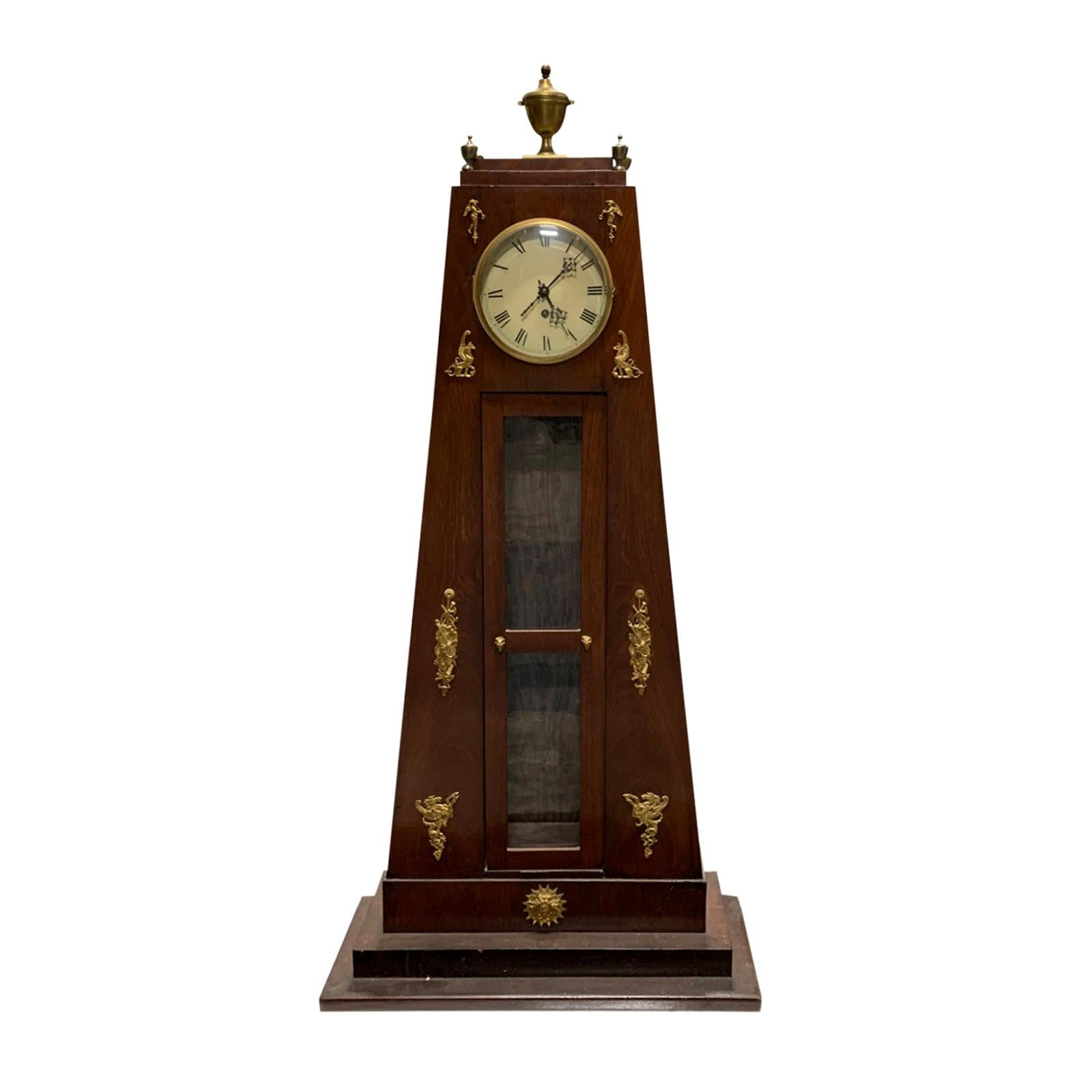 19th Century French Empire Style Bronze Mounted Clock