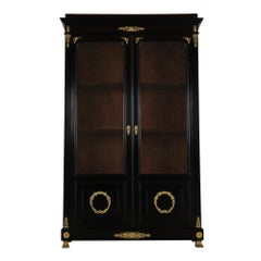 19th Century French Empire Style Ebonized Bookcase