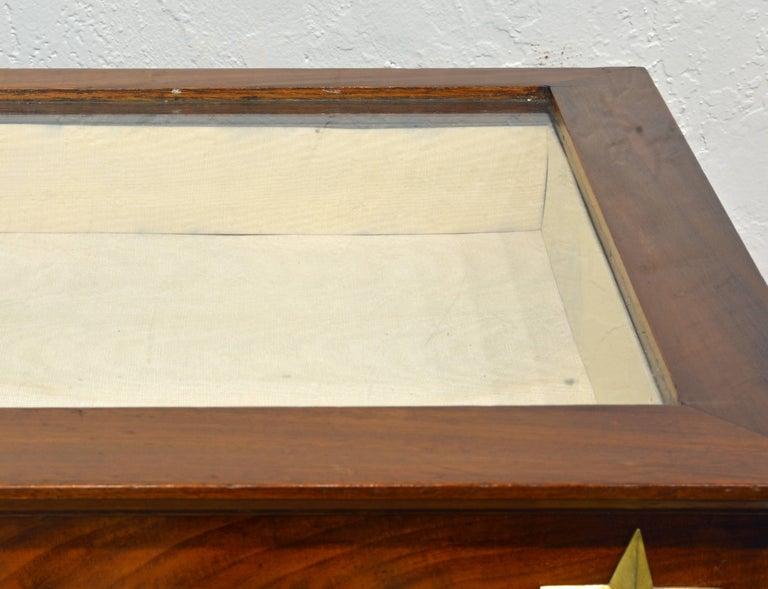 Mirror 19th Century French Empire Style Egyptian Themed Mahogany Vitrine Console Table