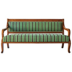 19th Century French Empire Style Upholstered Bench