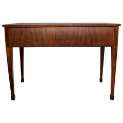 19th Century French Empire Walnut Table