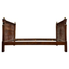 19th Century French Empire Wood Bed / Daybed
