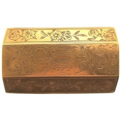19th Century French Engraved Gold Box