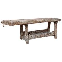 19th Century French Etabli Carpenter's Work Bench