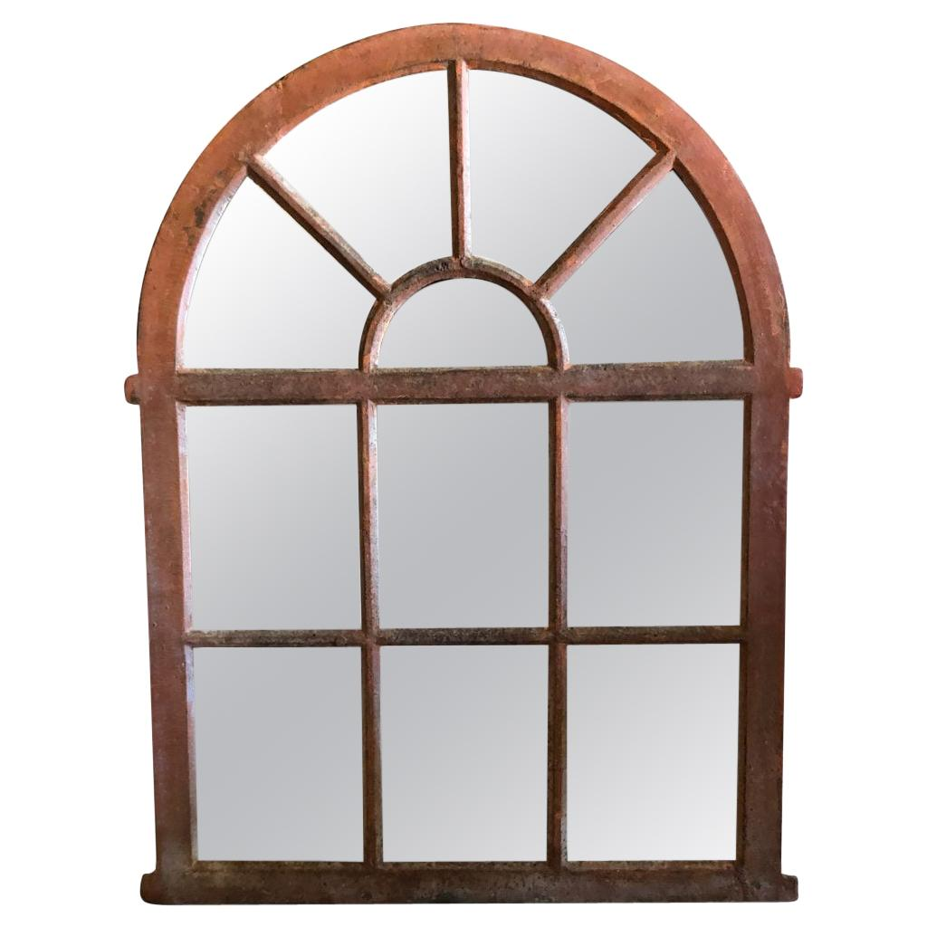 19th Century French Evreux Orangerie Metal Wall Mirror