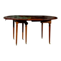 19th Century French Extension Drop Leaf Dining Table, One Leaf