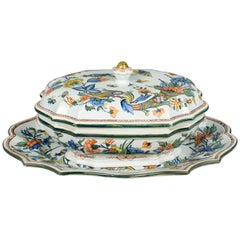 19th Century French Faience Tureen and Platter