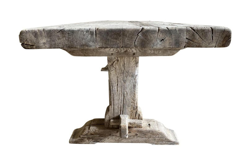 19th Century French Farm Table, Trestle Table For Sale 2