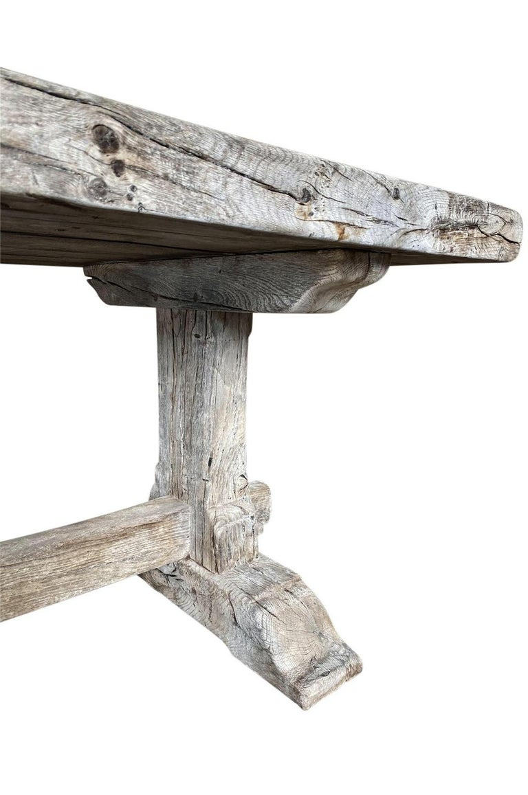 19th Century French Farm Table, Trestle Table For Sale 4