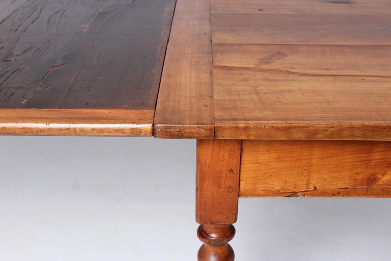 19th Century French Farmhouse or Country House Table, Solid Cherry, circa 1850 9