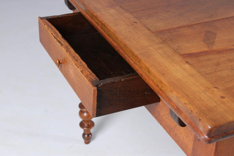 19th Century French Farmhouse or Country House Table, Solid Cherry, circa 1850 14