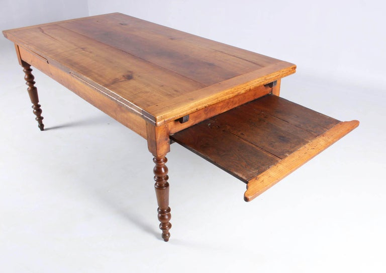 19th Century French Farmhouse or Country House Table, Solid Cherry, circa 1850 2
