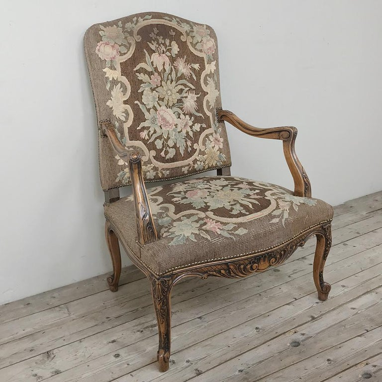 19th Century French Fauteuil ~ Armchair with Tapestry For ...