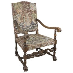 19th Century French Fauteuil, Armchair with Tapestry