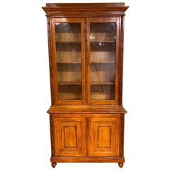 19th Century French Faux Bamboo and Pine Cabinet