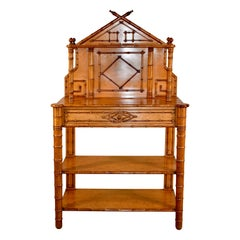 19th Century French Faux Bamboo Buffet