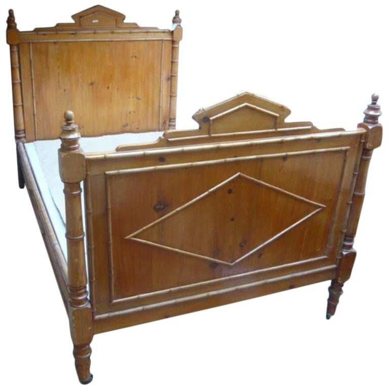 Französisches Doppelbett Aus Kunstbambus 19 Jahrhundert 1880er Im