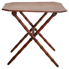 19th Century French Faux Bamboo Folding Table