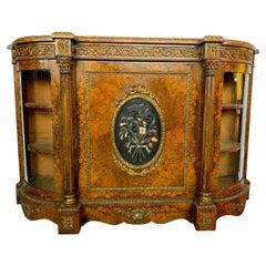 19th Century French Figured Walnut Credenza