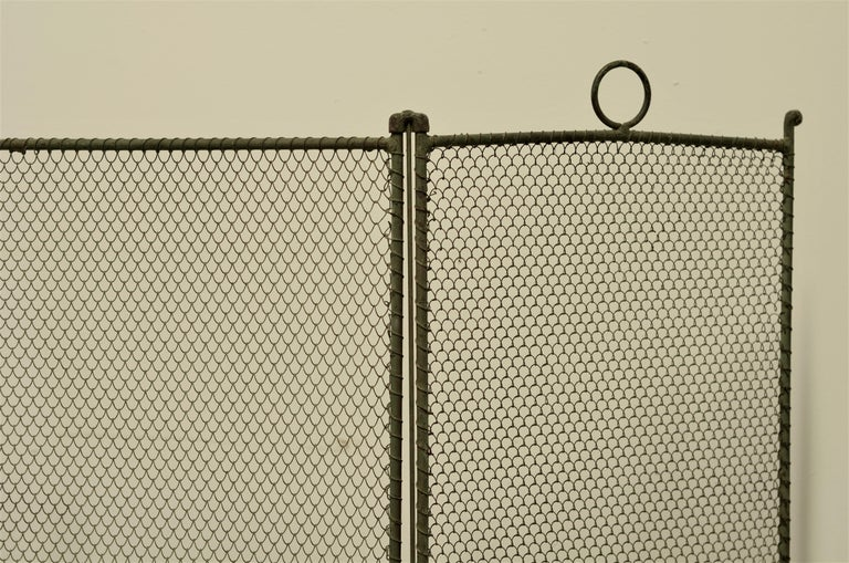 Wrought Iron 19th Century French Fireplace Screen/Firescreen For Sale