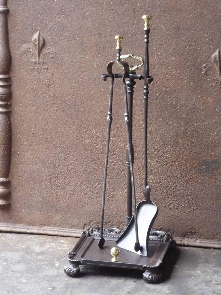 Napoleon III 19th Century French Fireplace Tools or Fire Tools For Sale