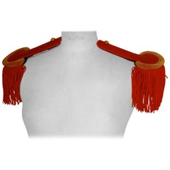 19th Century French First Officer's Uniform Red Epaulettes