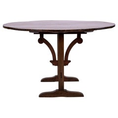 19th Century French Flip Top Wine Table