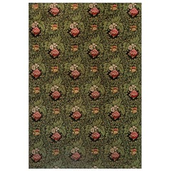 19th Century French Floral Design Needlework Rug
