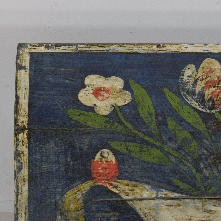 19th Century French Folk Art Wedding Box from Normandy For Sale 5