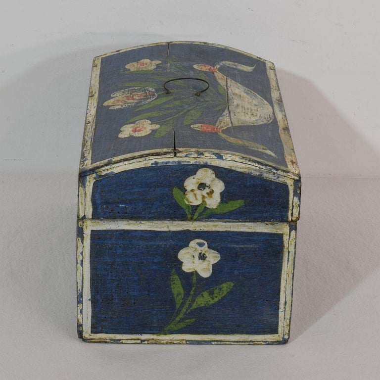 19th Century French Folk Art Wedding Box from Normandy In Good Condition For Sale In Amsterdam, NL