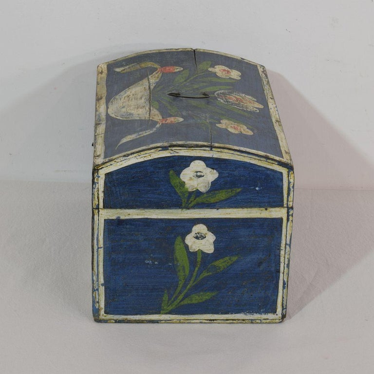 19th Century French Folk Art Wedding Box from Normandy For Sale 1