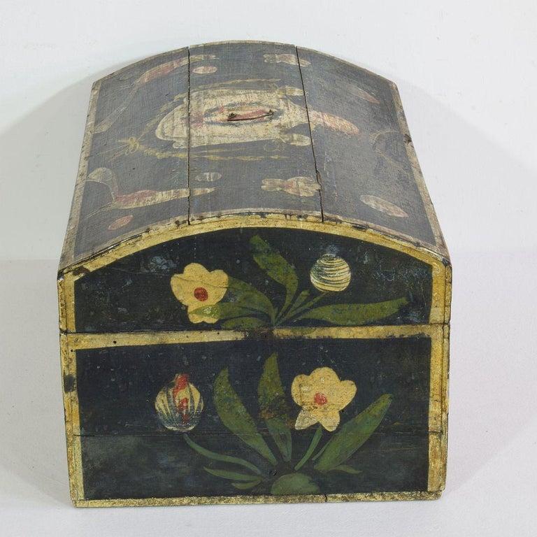 19th Century French Folk Art Wedding Box from Normandy 1