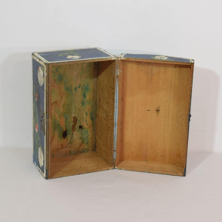 19th Century French Folk Art Wedding Box from Normandy For Sale 3
